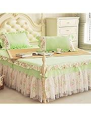 レーススカートベッドカバーカバーレット、ベッドスカートクイーンキング装飾プリンセスB 150x200cm(59x79inch)