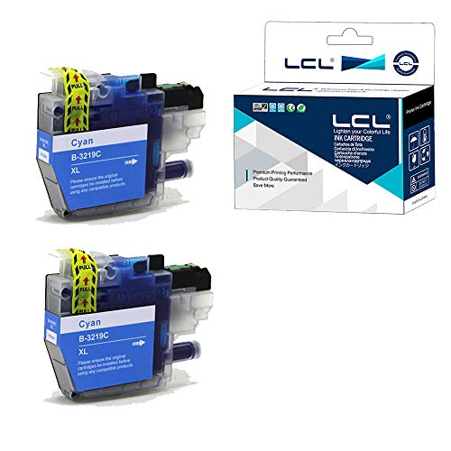 LCL Cartucho de Tinta Compatible LC-3219 LC3219 LC-3219XL LC3219XL LC-3219XLC LC3219XLC Pigment (2Cian) Reemplazo para Brother MFC-J5330DW MFC-J5335DW MFC-J5730DW MFC-J5930DW MFC-J6530DW MFC-J6930DW