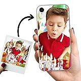 Phone Case Trends – Funda iPhone XR Personalizada con tu Foto o Texto – Carcasa Personalizable de Gel Flexible para Móvil - Funda Transparente, Antigolpes y de Silicona - Impresión Directa en Funda