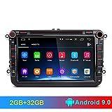 AWESAFE Android 9.0 [2GB+32GB] 8 Pulgadas Radio Coche con Pantalla 2 DIN para VW, Autoradio para VW con WiFi/GPS/Bluetooth/RDS/CD DVD/USB/FM Am/SD, Admite Mandos del Volante y Aparcamiento