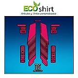 Ecoshirt L9-2UA2-KI6C Pegatinas Stickers Horquilla Rock Shox Reba RL Fork Am57 MTB Downhill, Rosa 29'