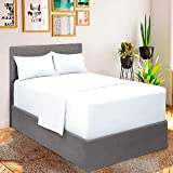 Mellanni Bed Sheet Set - Brushed Microfiber 1800 Bedding - Wrinkle, Fade, Stain Resistant - 4 Piece (for Extra Deep Mattresses, Queen, White)