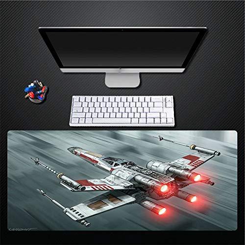 muismat, creatieve eenvoudige Star Wars vliegtuigen super waterdicht dikker rubber muismat toetsenbord home office game pad cadeau 400x800mm