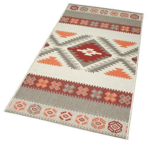Domdeco In- und Outdoor-Teppich Warm Nordic Pattern 150 x 80 cm Kunststoff für Innen und Außen
