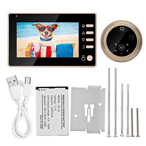 Digitaal kijkgaatje, kijkgaatje camera, deur kijkgaatje kijker display HD 4,3 inch kleur + nachtzichtfunctie + 32G, katholiek kijkgaatje voor thuis/hotel
