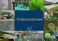 Gruenvariationen (Tischkalender 2022 DIN A5 quer): Die Farbe Gruen existiert in allen Variationen. (Monatskalender, 14 Seiten )