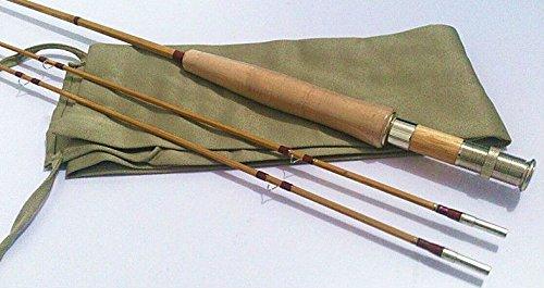 "zhurod New Split Tonkin Bamboo Fly Rod,2 Piece 2 Tips,7'6"" for #5 Line Wt"