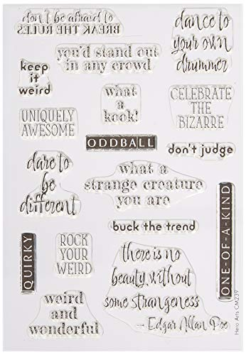 Hero Arts Weird & Wonderful Clear Stamps, Multicolor