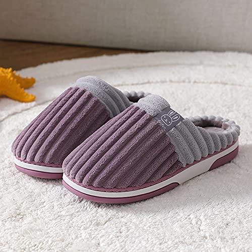 riou Zapatillas Mujer Casa Invierno Baratas Cálido Felpa Suave Invierno Zapatilla Slippers Lindo Cómoda para Interiores y Exteriores