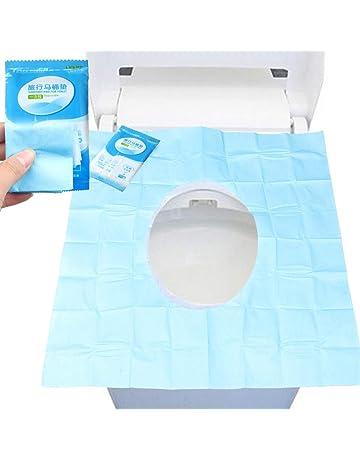 Protector WC Inodoro Funmo Fundas de papel para asiento de inodoro 50 piezas Cubiertas de Inodoros Desechables