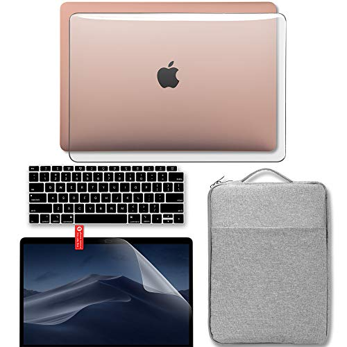 GMYLE MacBook Pro 13 inch Case 2018 2017 2016 Release A1989/A1706/A1708, Plastic Hard Case, Carrying Sleeve, Keyboard Cover & Screen Protector Compatible Newest Mac Pro 13 Inch, Cherry Fresh Floral
