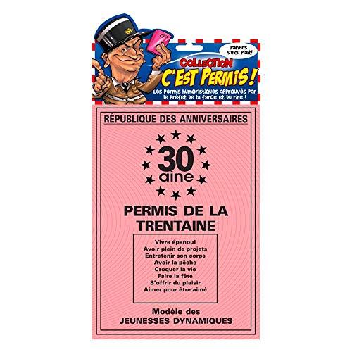 Carte Permis de la Trentaine 40 x20.50 cm