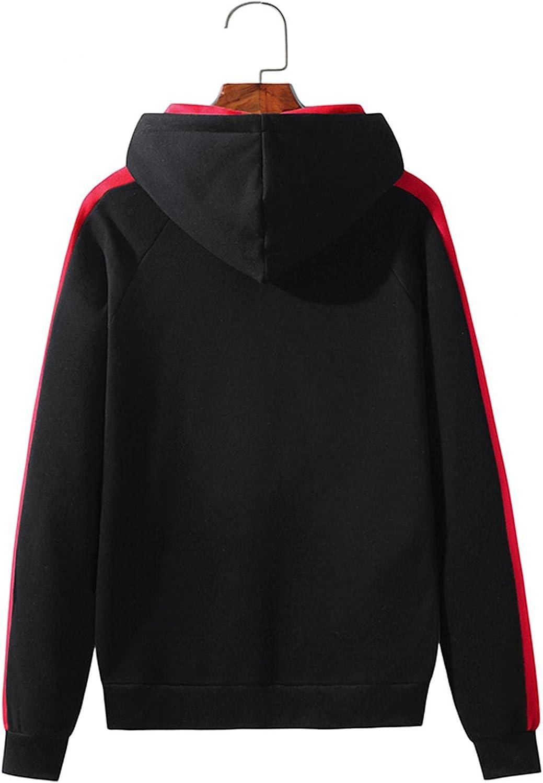 Mens Hoodies Tops Men's Autumn Slim Casual Patchwork Hooded Long Sleeve Sweatshirt Top Blouses Fashion Sweatshirt And Hoodies