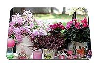 26cmx21cm マウスパッド (シクラメンヘザーカランコエ蘭花花瓶キャンドルウィンドウ) パターンカスタムの マウスパッド
