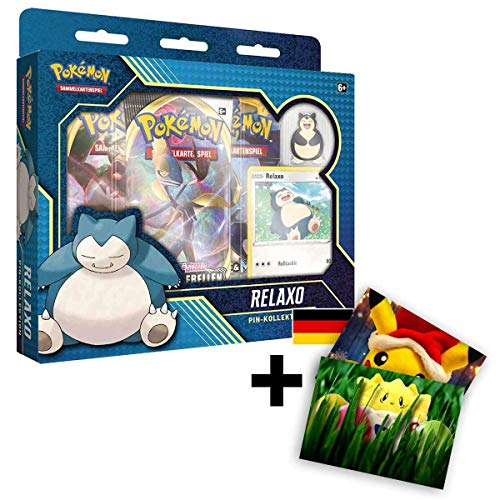 Lively Moments Pokemon Karten Pin Kollektion Relaxo DE Deutsch + Exklusive GRATIS Grußkarte