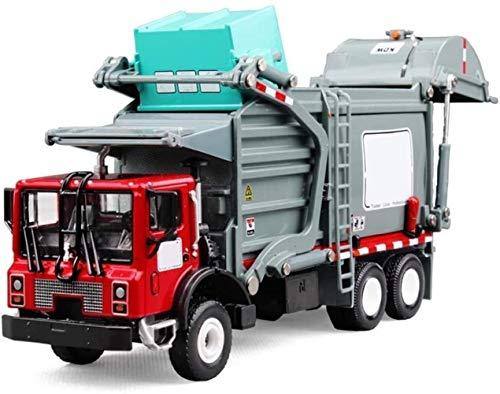 Toy model Juguete 1:24 Die-cast metal juguete aleación de coche Material clasificación vehículo de reciclaje camión de basura simulado ciudad coche modelo niño niña colección cognitiva regalo