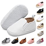 JOINFREE Toddler Baby's Cute Casual Walking Shoes Infant Boys Girls Soft Sneakers White 6-12 Months