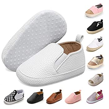 JOINFREE Toddler Baby s Cute Casual Walking Shoes Infant Boys Girls Soft Sneakers White 6-12 Months
