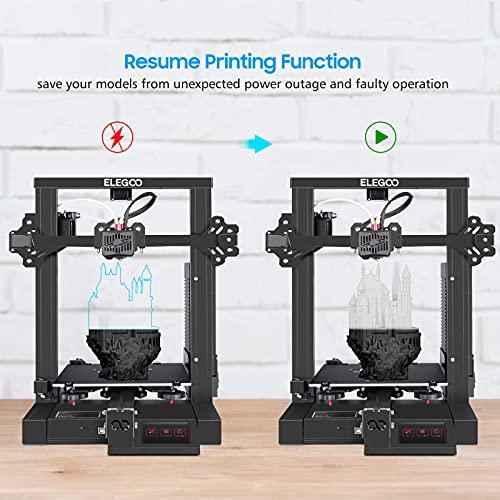 ELEGOO Neptune 2 - Impresora 3D de modelado de deposición fundida (FDM) con placa base silenciosa, fuente de alimentación de seguridad, placa de construcción extraíble y reanudación de impresión, impresora 3D con tamaño de impresión 8.7 x 8.7 x 9.8in (220 x 220 x 250mm)
