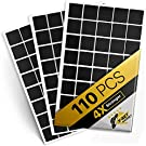 """Magnetic Squares - 110 Self Adhesive Magnetic Squares (Each 4/5"""" x 4/5"""") - Flexible Sticky Magnets - Peel & Stick Magnetic Sheets - Tape is Alternative to Magnetic Stickers, Magnetic Strip and Roll"""