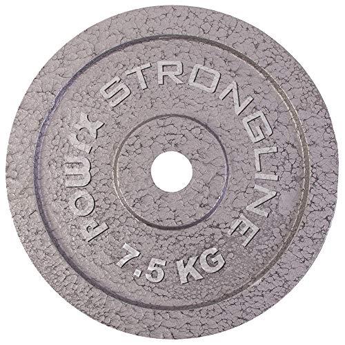 POWRX Hantelscheiben Set | Verschiedene Gewichtsvarianten 5-40 kg | Gusseisen Gewichte | 30 mm Bohrung (2 x 7,5 kg)