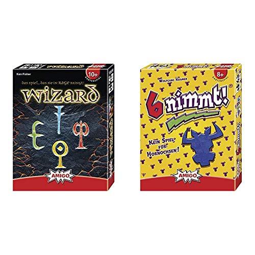 Amigo 6900 - Wizard, Kartenspiel & 4910 - 6 nimmt!, Kartenspiel