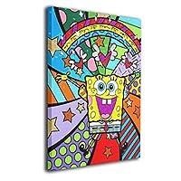 魅力的な芸術 30x40cm スポンジボブ Spongebob アートパネル ポスター モダン 北欧 印象派 インテリア キャンバス