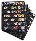 Leuchtturm 305080 Hojas de plástico COMPART, para 42 Placas de Cava / Tapas Coronas, Negro