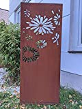 Zen Man Edelrost Garten Sichtschutz aus Metall 1mm Rost Gartenzaun Gartendeko Rost Sichtschutzwand B50 H150cm, 031648-2