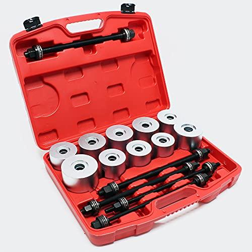 WilTec Kit Arrache de roulement de Roues Coffret 27pcs. Montage de palier Extracteur Outil