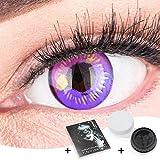 Farbige Lila Kontaktlinsen Anime Violet Circle Lenses Heroes Of Cosplay