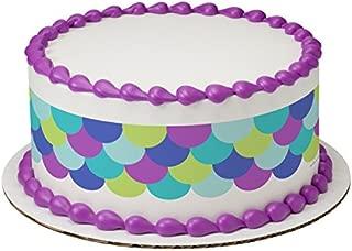 Mermaid Scale Edible Cake Strips #22915