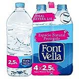 Font Vella, Agua Mineral Natural, tamaño nevera - Pack 4 x 2,5L
