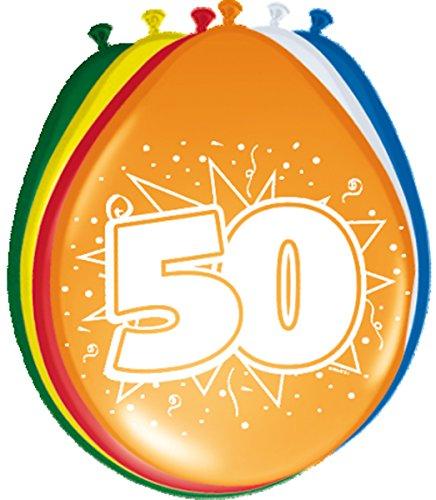 8 Ballons * 50 ans * pour anniversaire ou jubliläum//Balloons Party Multicolore Cinquante