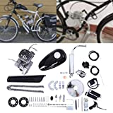 Bicycle Engine Kit, Lanhui 80cc Bicycle 2-Stroke Petrol Gas Motorized Engine Kit, Bicycle Engine Kit Bicycle Motorized Electric Bicycle Conversion Kit for 24',26' and 28' Bike, Silver