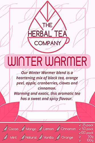 Zhu Ling Winter Warmer Tea Blend Tea Bags Organic With Orange Flavour 50 Pack