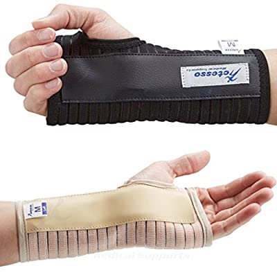 Actesso Breathable Wrist Support Brace Splint - Ideal for Carpal Tunnel, Sprains, and Tendonitis (Black, Medium Right)