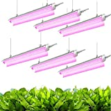 JESLED 4FT LED Grow Lights for Indoor Plants, 360W (6 x 60W, 2000W Equivalent) Full...