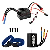 GoolRC Waterproof BL3650 3900KV Brushless Motor with 60A ESC for 1/10 RC Car Off-Road Truck