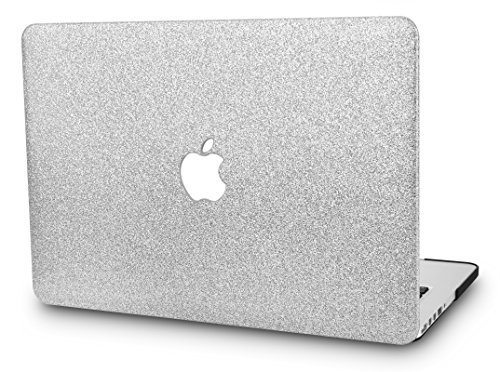 KECC Laptop Case for Old MacBook Pro 13' Retina (-2015) Plastic Hard Shell Cover A1502 / A1425 (Silver Sparkling)
