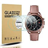 Suoman 4-Pack for Samsung Galaxy Watch 3 41mm Screen Protector Tempered Glass for Galaxy Watch 3 (41mm) [2.5D 9H Hardness] [Anti-Scratch]