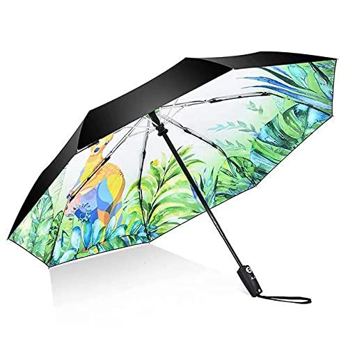 PUK Sombrilla automática de Sol para Mujer, sombrilla Plegable de Flores a la Moda para niña, sombrillas Ligeras para Mujer de Marca Chinease, Calidad
