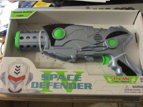 Space Defender Laser Waffe mit LED (grün) Pistole