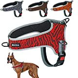 Muttitude No-Pull Training Dog Harness - Front Clip Dog Harness – Brown, Red, Orange, and Black Dog Harness for Dogs 10 to 55 Lbs (XL, Red)