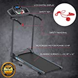 SereneLife Smart Electric Folding Treadmill – Easy Assembly Fitness Motorized Running Jogging Exercise Machine with Manual Incline Adjustment, 12 Preset Programs |...