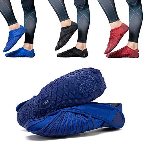 WENTING Zapatos de secado rápido, transpirables antideslizantes para exteriores, zapatos AquaIn para hombre y mujer (8, azul)
