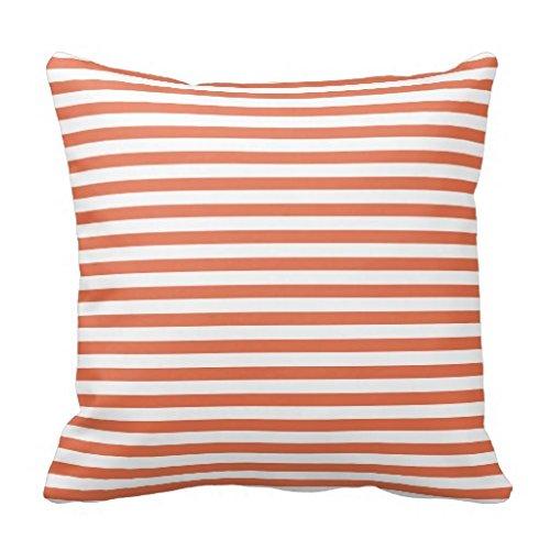Burnt Orange diseño de cuadros Bold manta funda de almohada