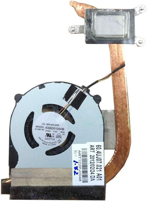RTDpart Disipador de Calor y Ventilador para Ordenador portátil para Sony VAIO SVT13 Series SVT131 SVT13117 KSB05105HB-CH25 60.4UJ07.021 Nuevo