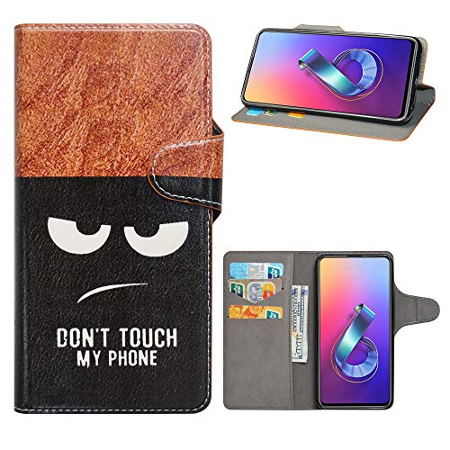 HHDY Wiko Lenny 5 Leder hülle, Painted Muster Wallet Handyhülle mit Kartenfächer/Standfunktion Hülle Cover für Wiko Lenny 5,Don't Touch