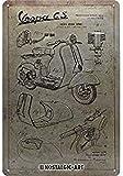 Nostalgic-Art Cartel de chapa retro Vespa – Parts Sketches – Idea de regalo para...